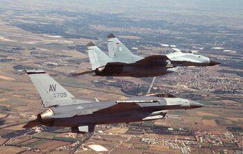 Vayu Sena - F-16 versus MiG-29